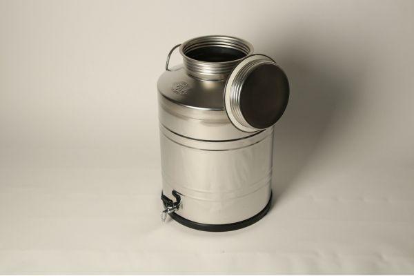 Бидон из нержавеющей стали 50 литров со сварным дном