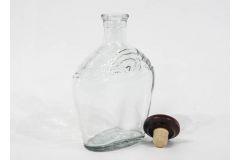 Бутыль графин штоф Сидней с деревянной корковой пробкой