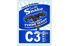 Спиртовые турбо дрожжи Double Snake C3 Extra